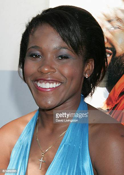 Jasmine Plummer attends the world premiere of The Weinstein Company's The Longshots at the Majestic Crest Theatre on August 20 2008 in Westwood...