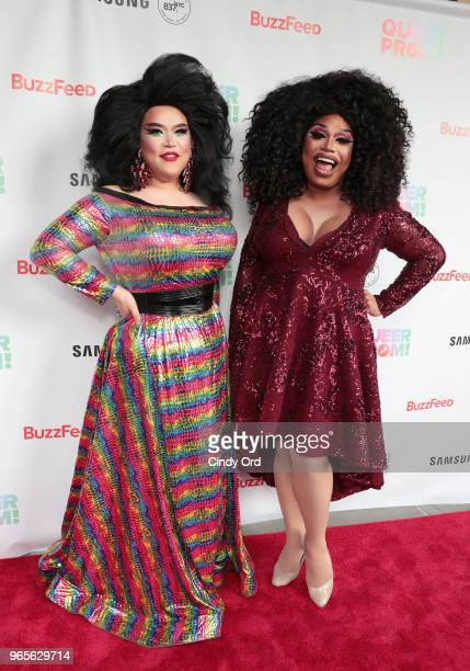 Jasmine Rice and Britta Filter attend as BuzzFeed hosts its 2nd Annual Queer Prom Powered by Samsung For LGBTQ Youth at Samsung 837 on June 1 2018 in...