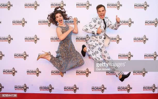 Jasmine Russell and Josh Russell arrive ahead of The Book of Mormon opening night at the Lyric Theatre Star City on March 9 2018 in Sydney Australia