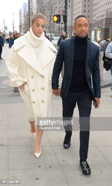 Jasmine Sanders and Terrence J attend Roc Nation THE BRUNCH on January 27 2018 in New York City