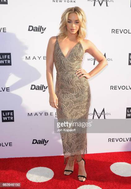 Jasmine Sanders arrives at the Daily Front Row's 3rd Annual Fashion Los Angeles Awards at the Sunset Tower Hotel on April 2 2017 in West Hollywood...