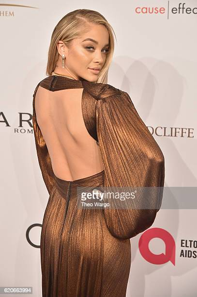 Jasmine Sanders attends 15th Annual Elton John AIDS Foundation An Enduring Vision Benefit at Cipriani Wall Street on November 2 2016 in New York City