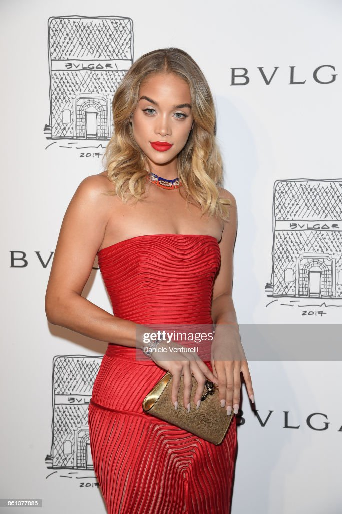 Jasmine Sanders attends a party to celebrate the Bvlgari Flagship Store Reopening on October 20, 2017 in New York City.
