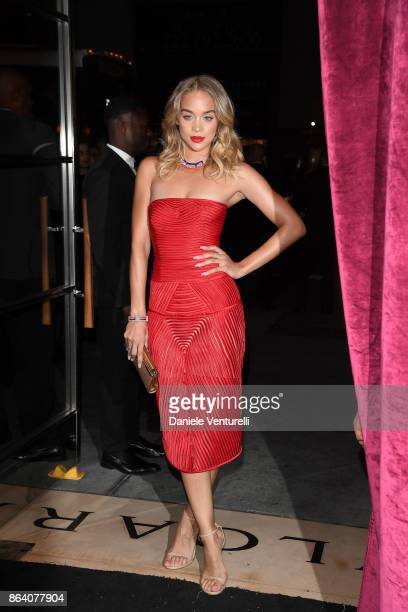 Jasmine Sanders attends a party to celebrate the Bvlgari Flagship Store Reopening on October 20 2017 in New York City