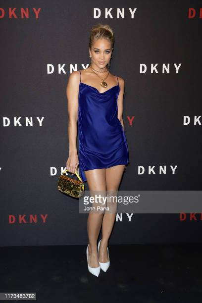 Jasmine Sanders attends as DKNY turns 30 with special live performances by Halsey and The Martinez Brothers at St Ann's Warehouse on September 09...