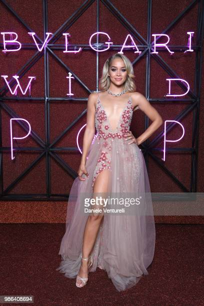 Jasmine Sanders attends BVLGARI Dinner Party at Stadio dei Marmi on June 28 2018 in Rome Italy