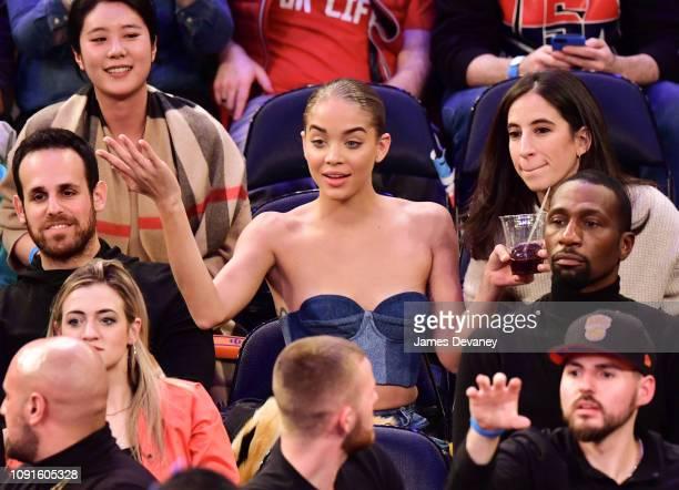 Jasmine Sanders attends Dallas Mavericks v New York Knicks game at Madison Square Garden on January 30 2019 in New York City