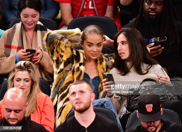 Jasmine Sanders attends Dallas Mavericks v New York Knicks game at Madison Square Garden on January 30 2019 in New York City