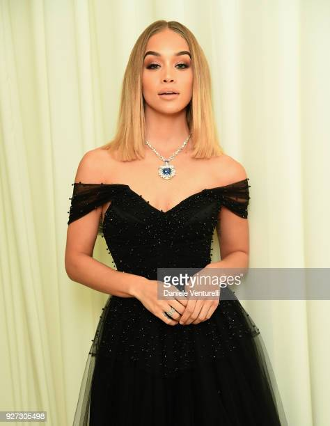 Jasmine Sanders attends Elton John AIDS Foundation 26th Annual Academy Awards Viewing Party at The City of West Hollywood Park on March 4 2018 in Los...
