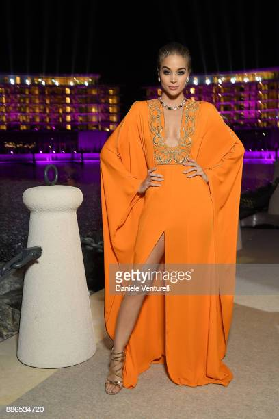 Jasmine Sanders attends Grand Opening Bulgari Dubai Resort on December 5 2017 in Dubai United Arab Emirates