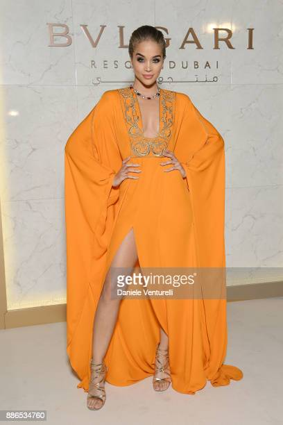 Jasmine Sanders attends Grand Opening Bulgari Dubai Resort on December 5 2017 in Dubai United Arab Emirates