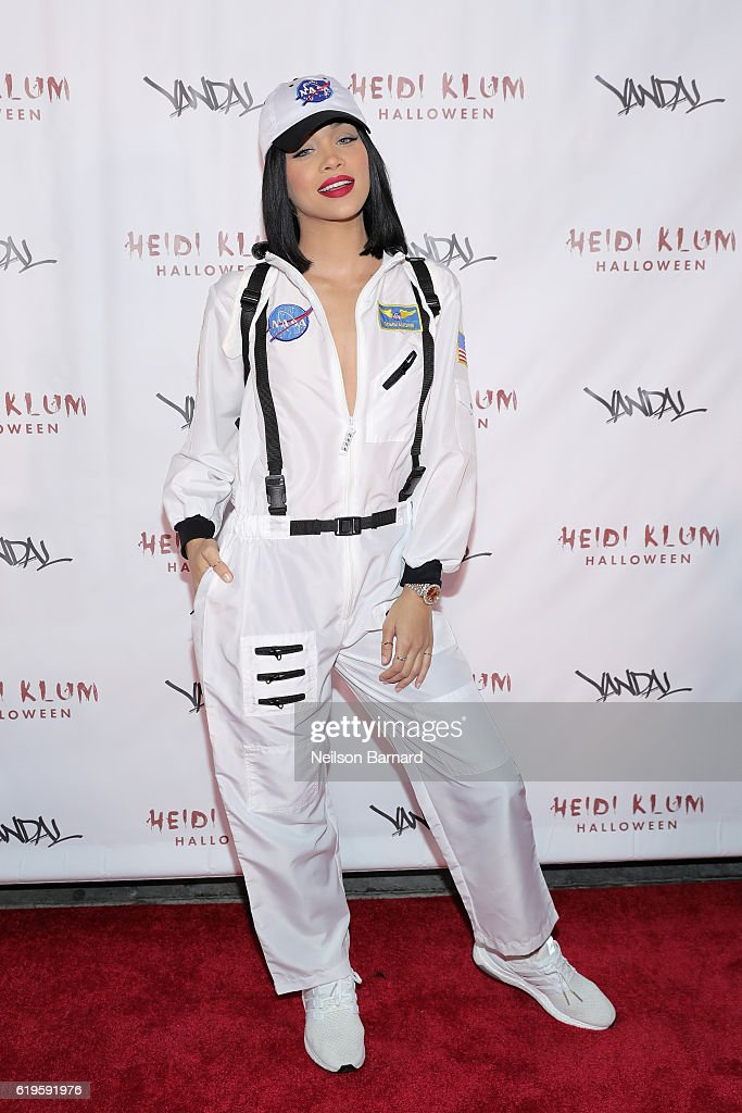 Jasmine Sanders attends Heidi Klum's 17th Annual Halloween Party sponsored by SVEDKA Vodka at Vandal on October 31, 2016 in New York City.