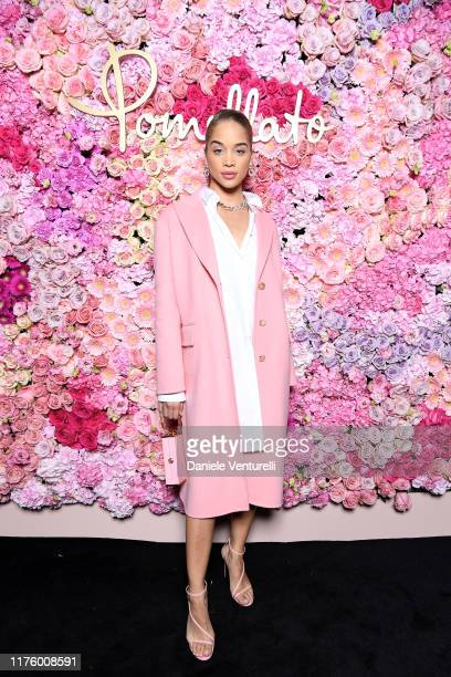 Jasmine Sanders attends Pomellato Pink Party on September 20 2019 in Milan Italy