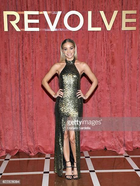 Jasmine Sanders attends REVOLVE Winter Formal 2016 on November 10 2016 in Los Angeles California