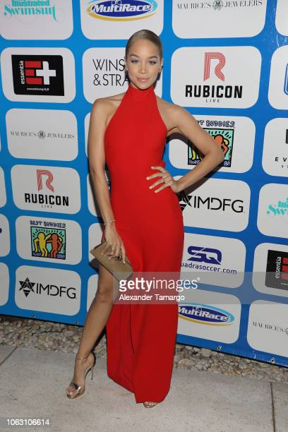 Jasmine Sanders attends the 1st Annual Celebrity Beach Soccer After Party Presented By GACP Sports Sports Illustrated at W South Beach on November 17...
