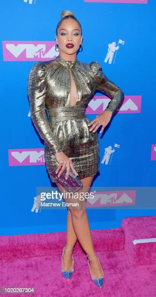 Jasmine Sanders attends the 2018 MTV Video Music Awards at Radio City Music Hall on August 20 2018 in New York City