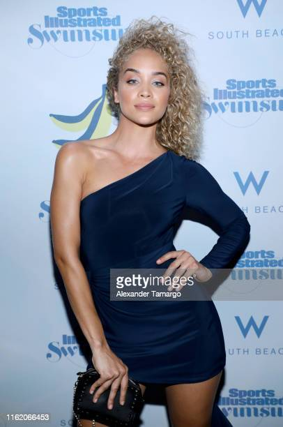 Jasmine Sanders attends the 2019 Sports Illustrated Swimsuit Runway Show During Miami Swim Week At W South Beach Front Row/Backstage at WET poolside...