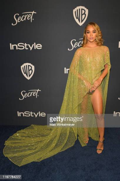 Jasmine Sanders attends The 2020 InStyle And Warner Bros. 77th Annual Golden Globe Awards Post-Party at The Beverly Hilton Hotel on January 05, 2020...