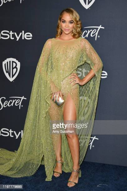 Jasmine Sanders attends the 21st Annual Warner Bros And InStyle Golden Globe After Party at The Beverly Hilton Hotel on January 05 2020 in Beverly...