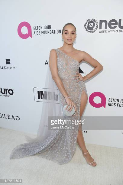 Jasmine Sanders attends the 27th annual Elton John AIDS Foundation Academy Awards Viewing Party sponsored by IMDb and Neuro Drinks celebrating EJAF...