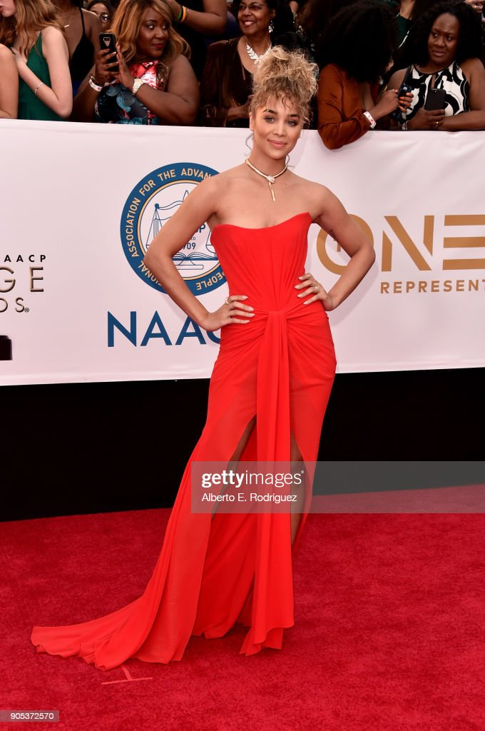 Jasmine Sanders attends the 49th NAACP Image Awards at Pasadena Civic Auditorium on January 15, 2018 in Pasadena, California.