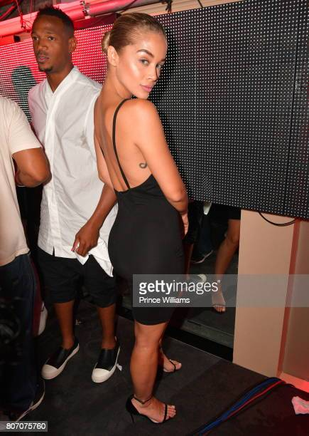 Jasmine Sanders attends The Art of Luxury 'Black and White Blowout' Party at Metropolitan Nightclub on July 2 2017 in New Orleans Louisiana