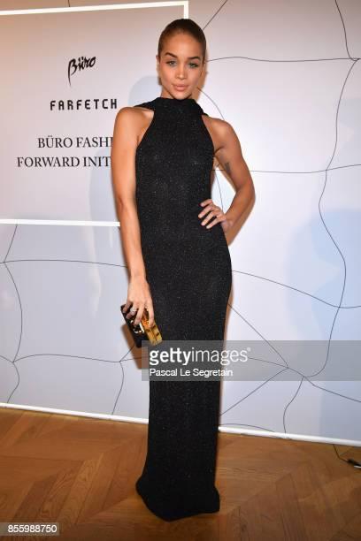 Jasmine Sanders attends the Buro 24/7 X Farfetch Fashion Forward Initiative as part of the Paris Fashion Week Womenswear Spring/Summer 2018 at Hotel...
