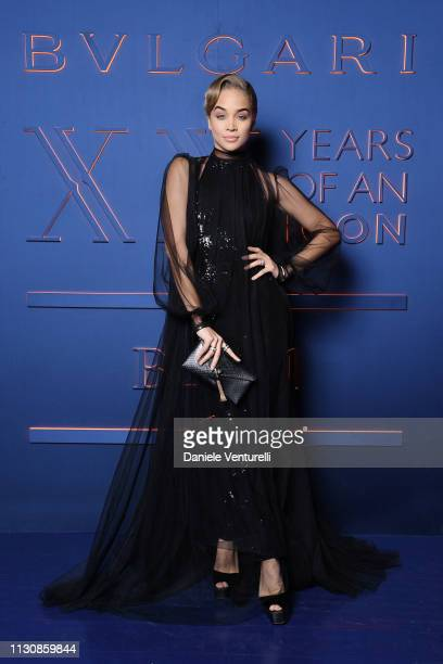 Jasmine Sanders attends the Bvlgari BZERO1 XX Anniversary Global Launch Event at Auditorium Parco Della Musica on February 19 2019 in Rome Italy