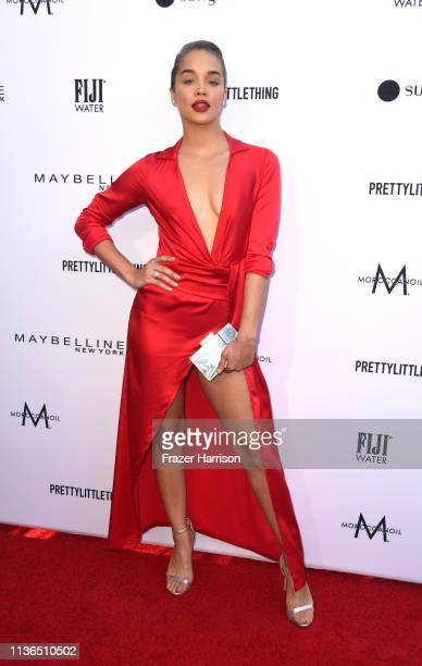 Jasmine Sanders attends The Daily Front Row's 5th Annual Fashion Los Angeles Awards at Beverly Hills Hotel on March 17 2019 in Beverly Hills...