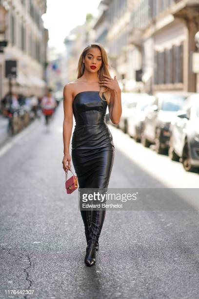 Jasmine Sanders attends the Ermanno Scervino show at Milan Fashion Week Spring Summer 2020 on September 21 2019 in Milan Italy