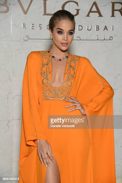 Jasmine Sanders attends the Grand Opening of Bulgari Dubai Resort on December 5, 2017 in Dubai, United Arab Emirates.
