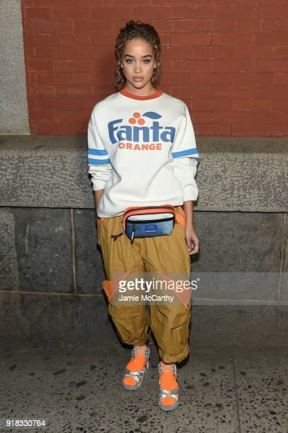 Jasmine Sanders attends the Marc Jacobs Fall 2018 Show at Park Avenue Armory on February 14 2018 in New York City