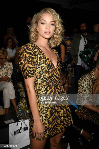a Guest attends the Moschino show during Milan Fashion Week Spring/Summer 2019 on September 20 2018 in Milan Italy