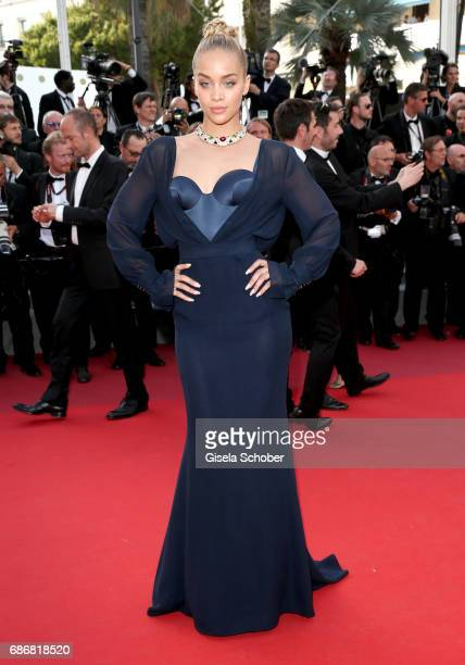 Jasmine Sanders attends the The Killing Of A Sacred Deer screening during the 70th annual Cannes Film Festival at Palais des Festivals on May 22 2017...
