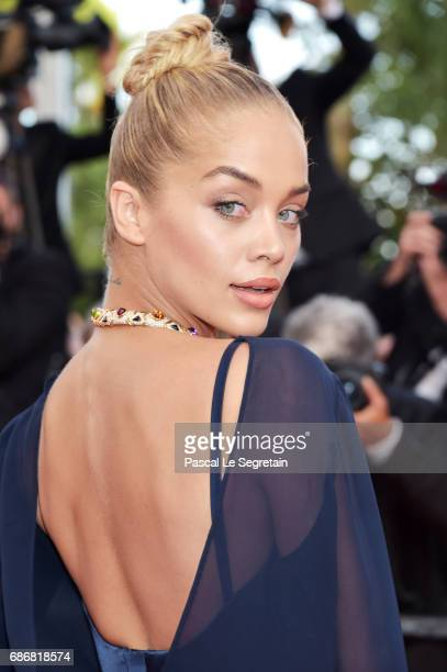Jasmine Sanders attends the 'The Killing Of A Sacred Deer' screening during the 70th annual Cannes Film Festival at Palais des Festivals on May 22...