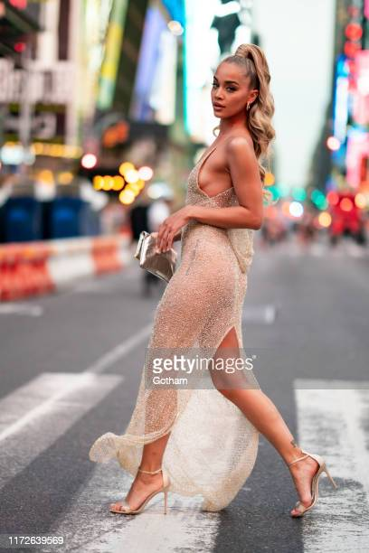 Jasmine Sanders is seen in Midtown on September 05 2019 in New York City