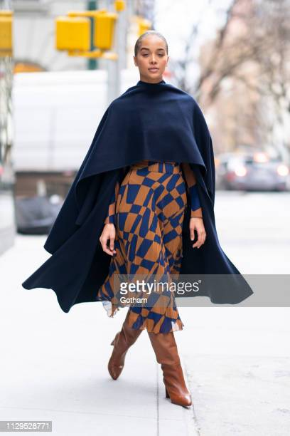 Jasmine Sanders is seen in Murray Hill on February 13 2019 in New York City