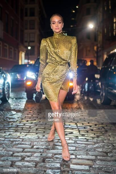 Jasmine Sanders is seen in SoHo on September 6 2018 in New York City