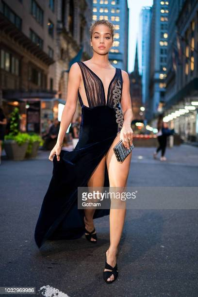 Jasmine Sanders is seen in the Financial District on September 13 2018 in New York City