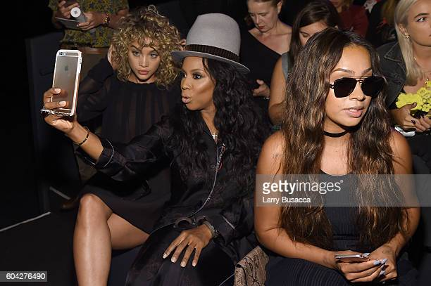 Jasmine Sanders June Ambrose and La La Anthony attend the Vera Wang Collection fashion show during New York Fashion Week The Shows at The Arc...