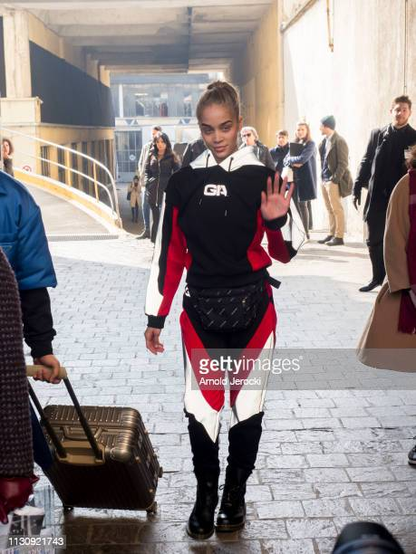 Jasmine Sanders on Day 1 Milan Fashion Week Autumn/Winter 2019/20 on February 20 2019 in Milan Italy
