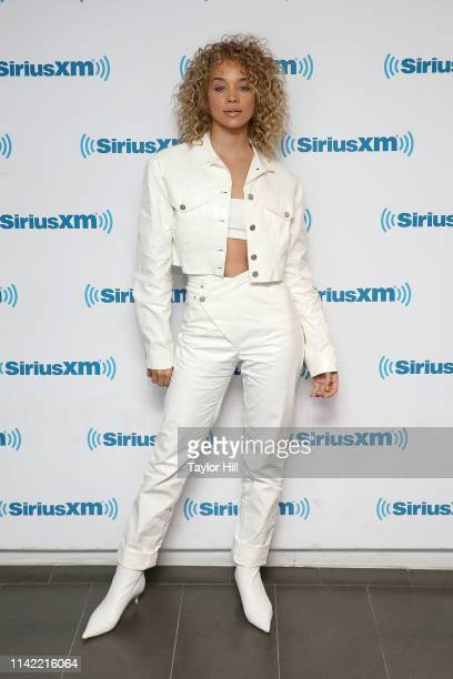 Jasmine Sanders visits the SiriusXM Studios on May 8, 2019 in New York City.