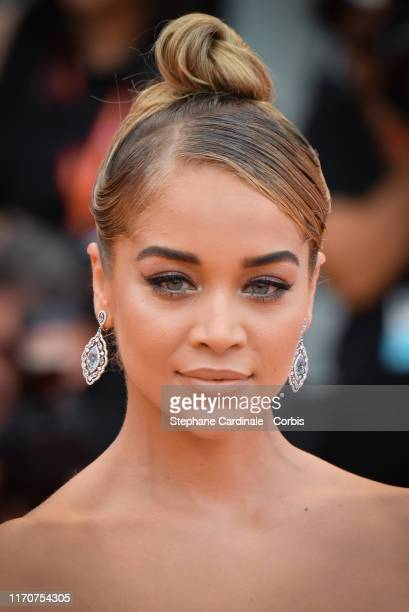 Jasmine Sanders walks the red carpet ahead of the opening ceremony during the 76th Venice Film Festival at Sala Casino on August 28 2019 in Venice...