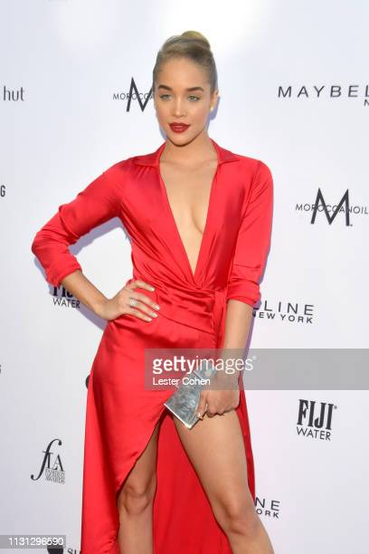 Jasmine Sanders with FIJI Water at the 5th Annual Fashion Los Angeles Awards on March 17 2019 in Los Angeles California