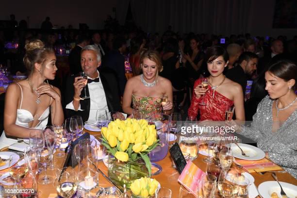 Jasmine Sanders xxx Kitty Spencer Hikari Mori and guest attend amfAR Gala dinner at La Permanente on September 22 2018 in Milan Italy