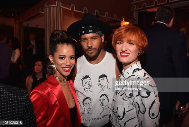 Jasmine Savoy Brown Jeffrey BowyerChapman and Breeda Wool attend the 2018 PreEmmy Party hosted by Entertainment Weekly and L'Oreal Paris at Sunset...