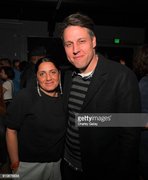 Jasmine Shokrian and Tim Fleming of Art Los Angeles Contemporary attend ALAC MUSIC SERIES @ ZEBULON Freestyle Fellowship at Zebulon on January 26...