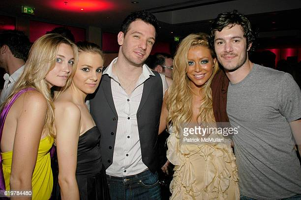 Jasmine Snow Lysee Webb JC Chasez Aubrey O'Day and Adam Brody attend LIFE BALL Welcome Cocktail Party at Meridien Hotel on May 25 2007 in Vienna...