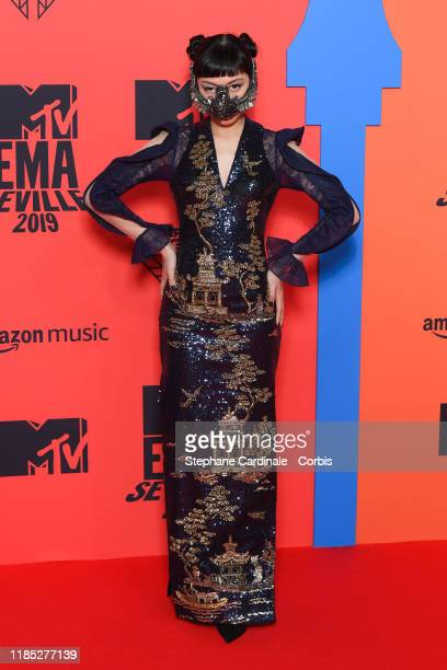 Jasmine Sokko attends the MTV EMAs 2019 at FIBES Conference and Exhibition Centre on November 03 2019 in Seville Spain