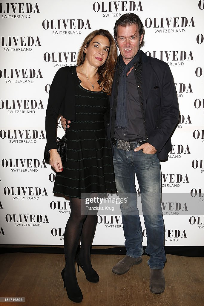 Jasmine Spezie and John Juergens attend the OLIVEDA - Launch Party at Bayerischer Hof on October 15, 2013 in Munich, Germany.